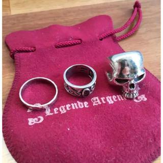 クレイジーピッグ(CRAZY PIG)の定価8万円 シルバー925リング 指輪3点セット クレイジーピッグタイプ(リング(指輪))