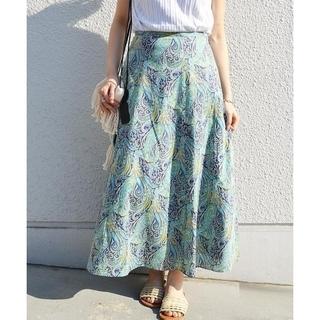 シップスフォーウィメン(SHIPS for women)のSHIPS リバティプリントローンスカート(ひざ丈スカート)