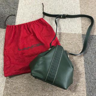 ランセル(LANCEL)の【LANCEL】新品未使用 巾着 バッグ ショルダー グリーン 渋色(ショルダーバッグ)