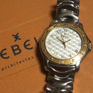 エベル(EBEL)の送料無料 EBEL DRESS WAVE デイト レディース クォーツ 格子柄(腕時計)