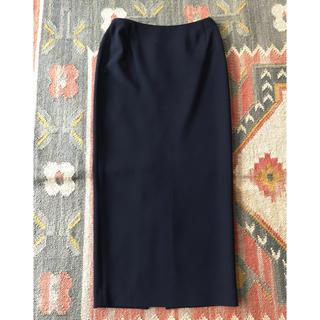 ダナキャラン(Donna Karan)の【美品】【Donna Karan】スリットロングスカート 日本サイズ7着丈88㎝(ロングスカート)