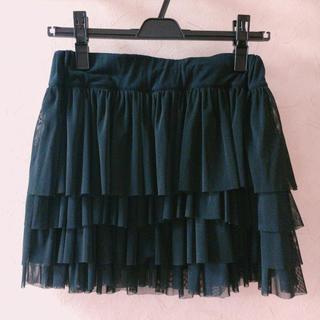 ジャイロホワイト(JAYRO White)の黒色♡チュールスカート(ミニスカート)