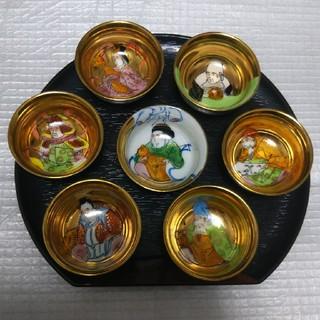 クタニセイヨウ(九谷青窯)の九谷焼 七福神 ぐい呑み(食器)