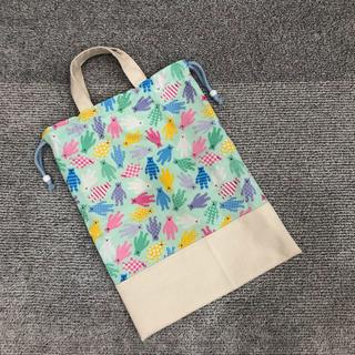 【値下げ】体操着袋(水色クマ)(バッグ/レッスンバッグ)