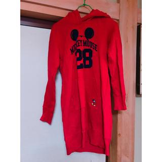 ディズニー(Disney)のミッキー トレーナーワンピース(トレーナー/スウェット)