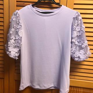 ジーユー(GU)の袖レースカットソー♡(カットソー(半袖/袖なし))