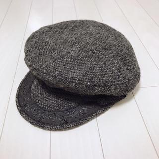 ニューヨークハット(NEW YORK HAT)の美品✨ニューヨークハット ウール キャスケット チャコール グレー(キャスケット)