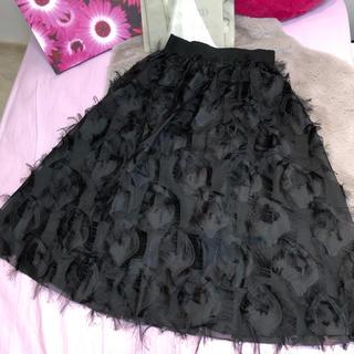 ダブルアール(WR)のインポート♡WR♡wingブラック上品スカート(ロングスカート)