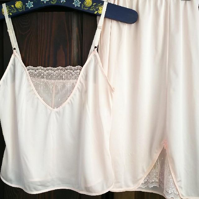 ベルメゾン(ベルメゾン)のペチコートとキャミソール ピンク色 レディースの下着/アンダーウェア(その他)の商品写真