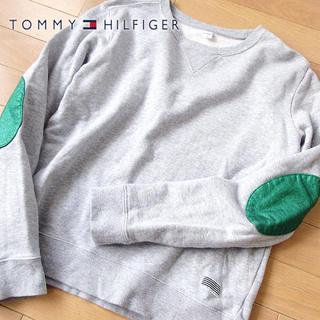 美品 Sサイズ TOMMY トミー レディース 肘パッチ スウェット/トレーナー