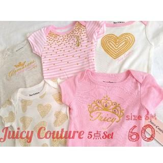 ジューシークチュール(Juicy Couture)のJuicy Couture*新品未使用 ロンパース5点*60(ロンパース)
