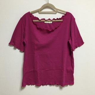 シマムラ(しまむら)のしまむら リブメローTシャツ(Tシャツ(半袖/袖なし))