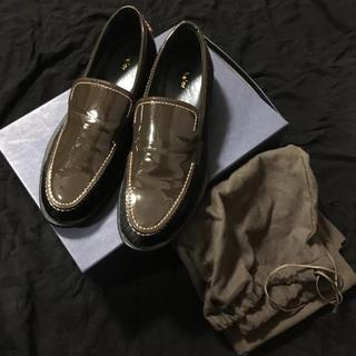 カラー(kolor)のkolor leather patent loafers size6 1/2(ドレス/ビジネス)