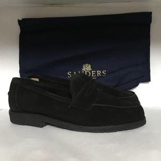 サンダース(SANDERS)のSanders suede saddle loafers size6 1/2(ドレス/ビジネス)