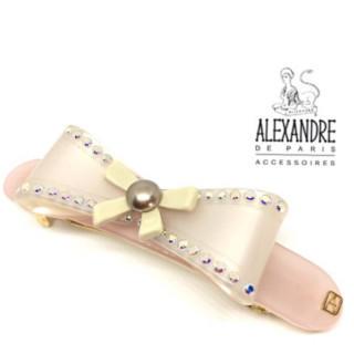 アレクサンドルドゥパリ(Alexandre de Paris)の新品 定価13000円 リボン ヘアバレッタ♪(ヘアピン)