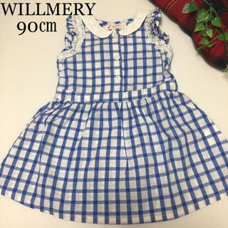 WILL MERY - ウィルメリー ワンピース 90 春 夏 肩フリル ミキハウス メゾピアノ