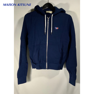 メゾンキツネ(MAISON KITSUNE')の✨美品✨MAISON KITSUNE パーカー ネイビー サイズXS(パーカー)