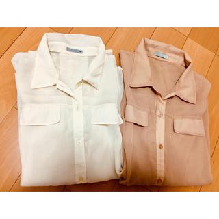 ジーユー(GU)の【新品】GU シースルーシャツ(シャツ/ブラウス(半袖/袖なし))