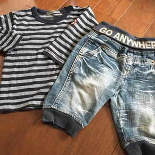 コシノジュンコ(JUNKO KOSHINO)の値下げ!90 ベビー トップス ジーンズ 春服セット(Tシャツ/カットソー)
