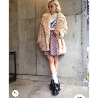 G.V.G.VのFAUX FUR BIG LAPEL SHORT COAT