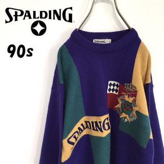 スポルディング(SPALDING)の90s SPALDING スポルディング ニット(ニット/セーター)