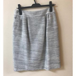 シップスフォーウィメン(SHIPS for women)のシップス☆ツイードジャージータイトスカート(ひざ丈スカート)