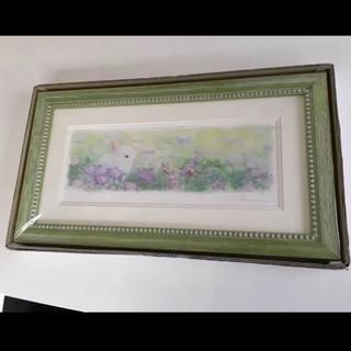 土田穣 紫の高原(版画)
