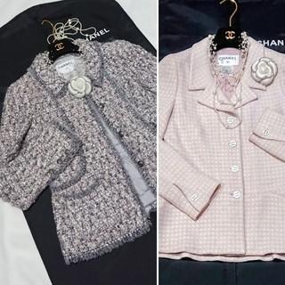 シャネル(CHANEL)のシャネルジャケット★うっとり春色MIXツイードジャケット&コートジャケット(テーラードジャケット)