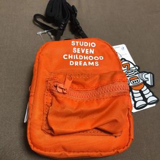 ジーユー(GU)のGU STUDIO SEVEN ミニショルダー オレンジ 新品 NAOTO(ショルダーバッグ)