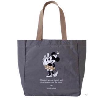 ディズニー(Disney)の新品紀ノ国屋 ポケッタブルバッグM(ミニー/グレー)(エコバッグ)