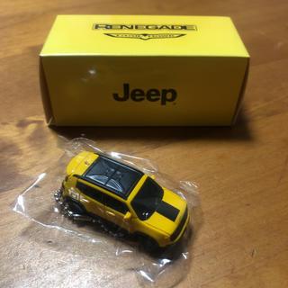 ジープ(Jeep)のジープ レネゲード 非売品 プルバックカー LED ミニカー キーホルダー(ミニカー)