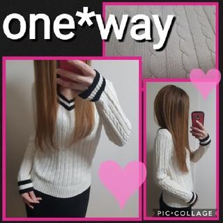 ワンウェイ(one*way)の【one way】鍵編みニットトップス(ニット/セーター)