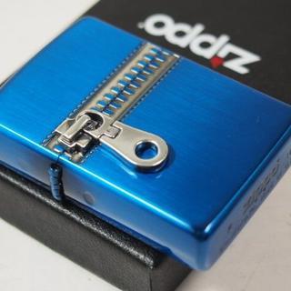 ジッポー(ZIPPO)のZippo ジッパー Zipper メタル(両面)ブルー 青(タバコグッズ)