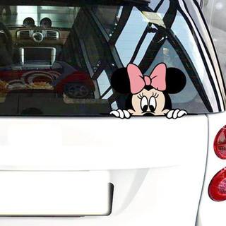 ディズニー(Disney)のミッキー 車 ステッカー  管理番号2105(車外アクセサリ)