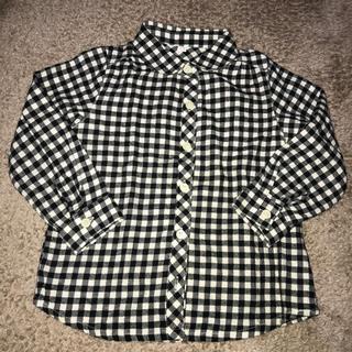 ギンガムチェック ネルシャツ110