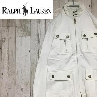 ラルフローレン(Ralph Lauren)の【入手困難】【LRL ラルフローレン】【ホワイト Gジャン/デニムジャケット】(Gジャン/デニムジャケット)
