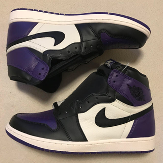 ナイキ(NIKE)のNIKE AIR JORDAN1 RETRO HI OG CourtPurple(スニーカー)