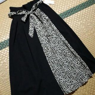 しまむら - しまむら 切り替えスカート レオパード プリーツ