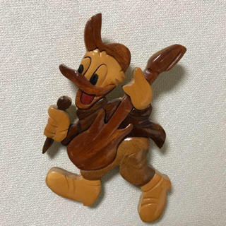 ドナルドダック(ドナルドダック)のディズニー ドナルド ダック 壁掛け 木彫り アンティーク(彫刻/オブジェ)