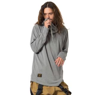 グラム(glamb)のglamb Jagger drape hoodie ジャガードレープパーカー 黒(パーカー)