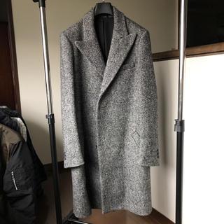 カルヴェン(CARVEN)のcarven coatカルヴェンコート44ブラックホワイトグレー/kitsu美品(チェスターコート)