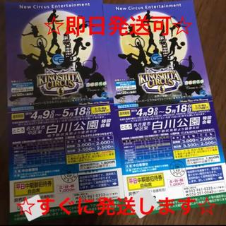 サーカス(circus)の木下大サーカス 名古屋 2枚 きのしたサーカス 招待券(サーカス)