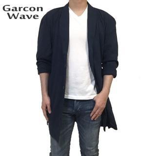 ギャルソンウェーブ(Garcon Wave)のギャルソンウェーブ 新品 チェスターコート コーディガン ネイビー L(チェスターコート)