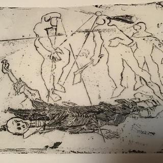 横尾忠則 銅版画  エッチング  【海底の死】ドクロ 限定20 /2000年(版画)