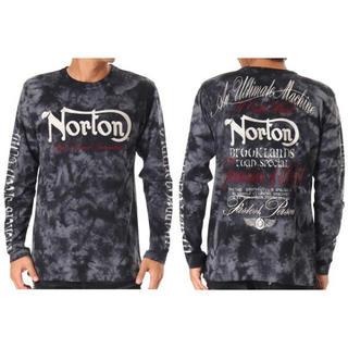 ノートン(Norton)のNortonノートン ロンT 長袖シャツ 袖ビッグロゴ ムラ染め XXL 未使用(Tシャツ/カットソー(七分/長袖))