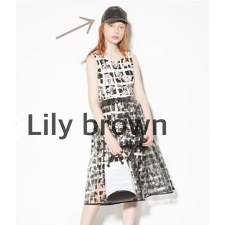 リリーブラウン(Lily Brown)のリリーブラウン キャップ BLACK(キャップ)