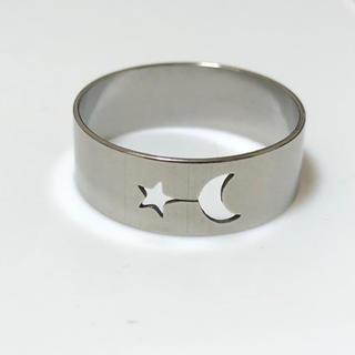 同時購入で300円 ステンレス指輪 月と星 ムーン スター(リング(指輪))