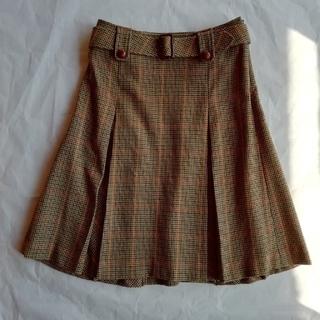 バーバリー(BURBERRY)のBURBERRY ボックスプリーツスカート サイズ36(ひざ丈スカート)