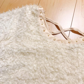 ギャルフィット(GAL FIT)のホワイトプードルニット(ニット/セーター)