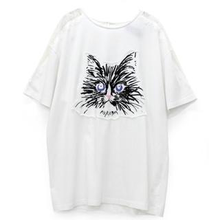 アールエヌエー(RNA)のRNA スカラレースコンビビッグT  白 新品(Tシャツ(半袖/袖なし))